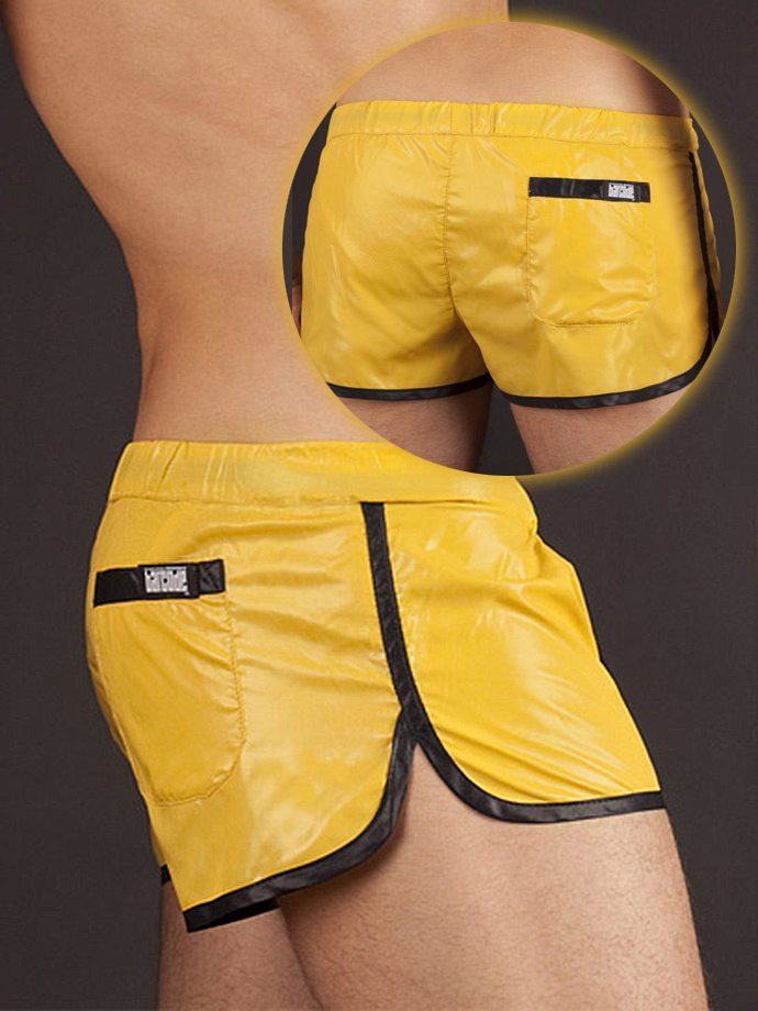 Barcode Shinie Short - yellow/black