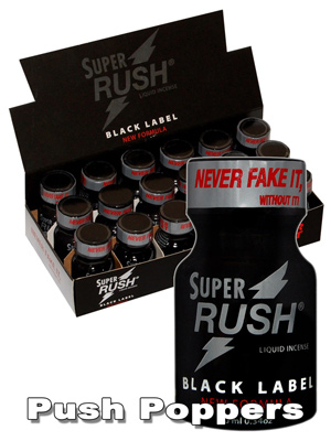 BOX SUPER RUSH BLACK small - 18 x
