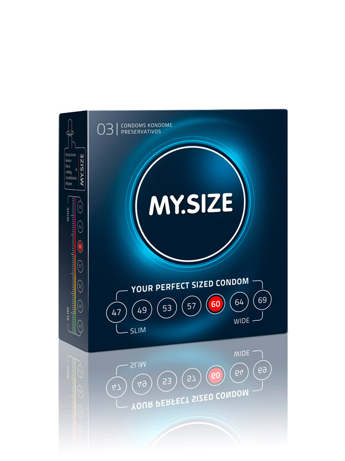 3 x MY.SIZE Condoms - Size 60