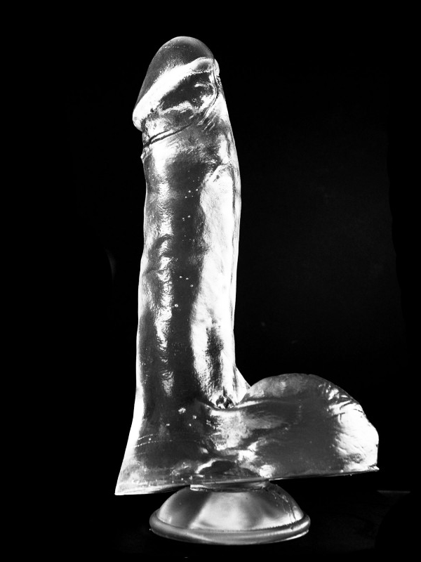 Dark Crystal Clear Large Dildo DCC49