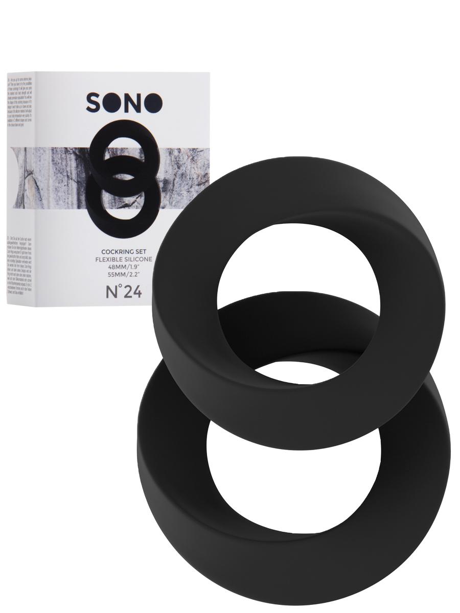 Cockring Set schwarz - SONO No.24