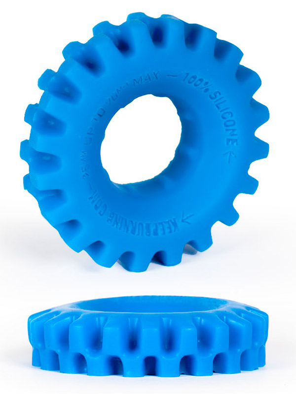 Burning Wheels 100% Silicone Cockring CK03 Blue