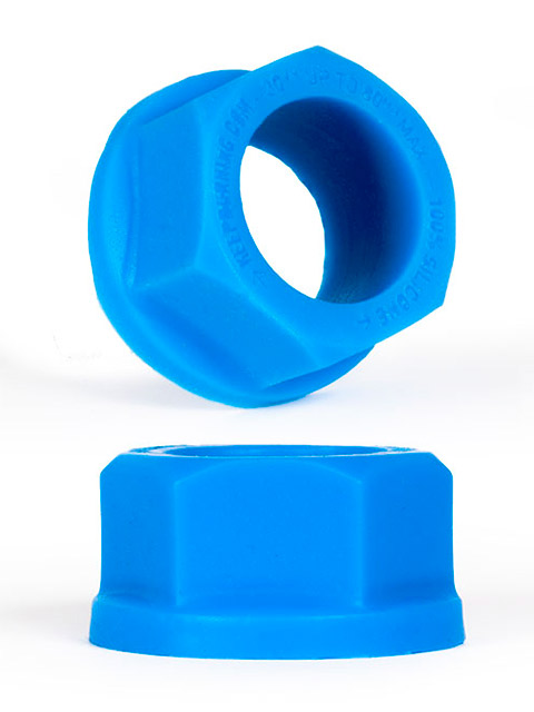 Burning Wheels 100% Silikon Cockring CK04 Blau