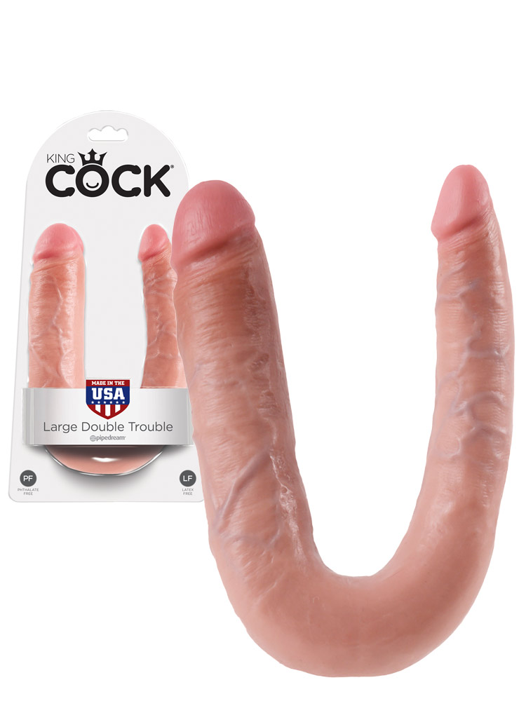 King Cock - Large Double Trouble Flesh
