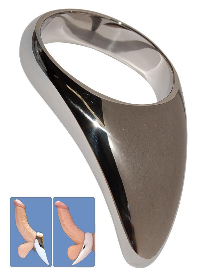 Edelstahl Teardrop Cock Ring - 55mm