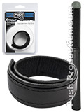 Push Xtreme Leather - Knoxville Cock & Ball Velcro Strap Small