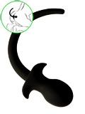 Puppy Tail No 2 - Silicone Anal Plug - Black